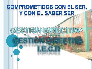 GESTION DIRECTIVA  I.E.C.H