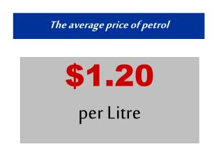 The average price of petrol