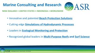 Marine Consulting and Research NEW ZEALAND • UNITED STATES • INDONESIA • WORLDWIDE