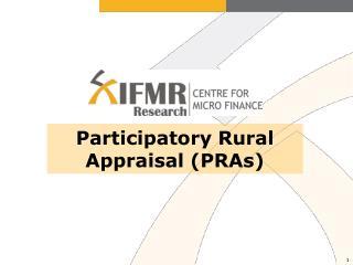 Participatory Rural Appraisal (PRAs)