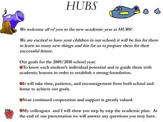 We welcome all of you to the new academic year at HUBS!