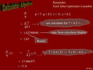 Calculator Algebra!