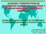 AVANCES Y PERSPECTIVAS DE NEGOCIACION DE MEDIDAS SANITARIAS Y FITOSANITARIAS EN EL CONTINENTE AMERICANO