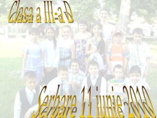Serbare 11 iunie 2010