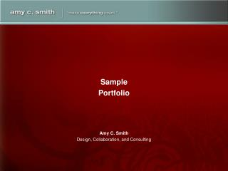 Amy C. Smith Design, Collaboration, and Consulting