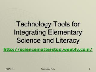 Technology Tools for Integrating Elementary Science and Literacy