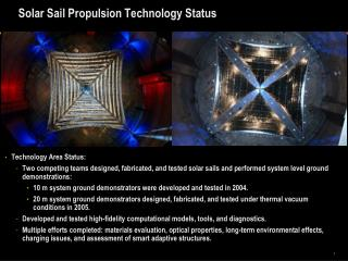 Solar Sail Propulsion Technology Status