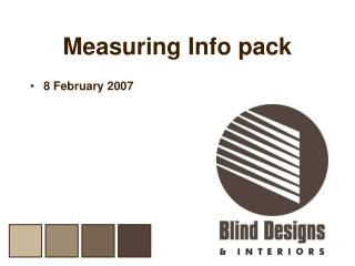 Measuring Info pack