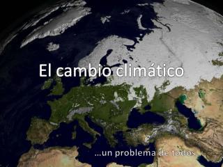 Prevenciones ante el calentamiento  global