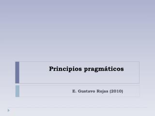Principios pragmáticos
