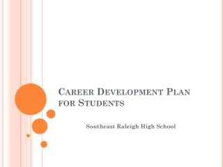 Career Development Plan for Students
