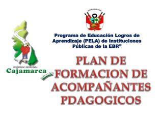 """Programa de Educación Logros de Aprendizaje (PELA) de Instituciones Públicas de la EBR"""""""