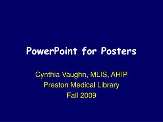PowerPoint for Posters