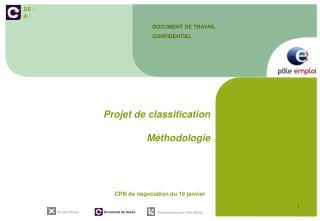 Projet de classification Méthodologie