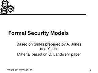 Formal Security Models