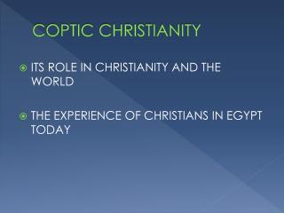 COPTIC CHRISTIANITY
