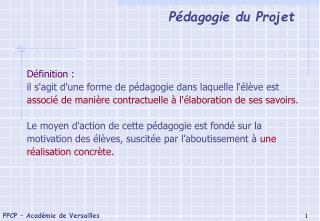 Dans la pédagogie «magistrale»