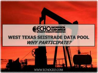 WEST TEXAS SEISTRADE DATA POOL WHY PARTICIPATE?