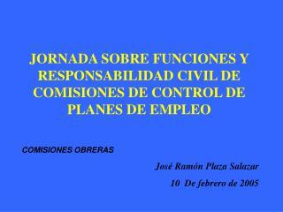 JORNADA SOBRE FUNCIONES Y RESPONSABILIDAD CIVIL DE COMISIONES DE CONTROL DE PLANES DE EMPLEO