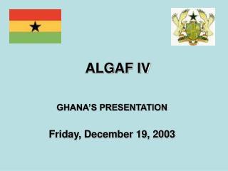 ALGAF IV
