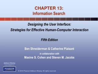 CHAPTER 13: Information Search