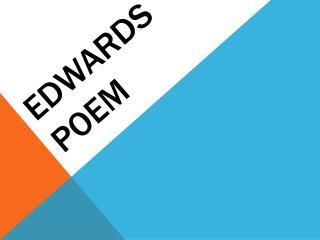 Edwards Poem
