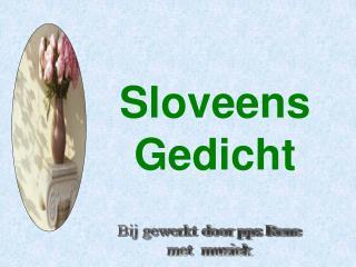 Sloveens Gedicht