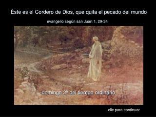 Éste es el Cordero de Dios, que quita el pecado del mundo
