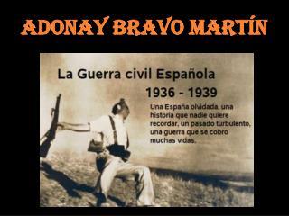 Adonay Bravo Martín
