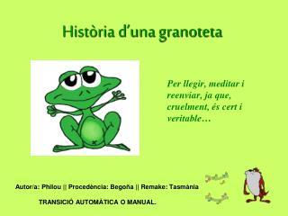 Història d'una granoteta