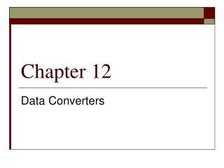 Data Converters