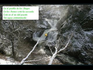 En el pueblo de los Bayos En los Fumos está la cascada Está en el rio del puerto