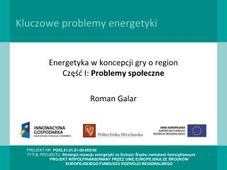 Kluczowe problemy energetyki