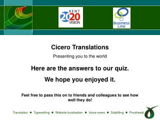 Cicero Translations  Presenting you to the world