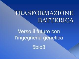 Verso il futuro con l'ingegneria genetica 5bio3