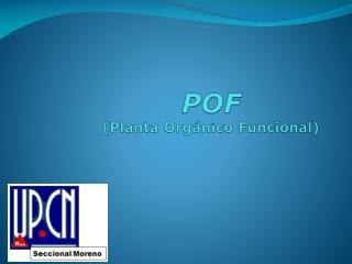 POF (Planta Orgánico Funcional)