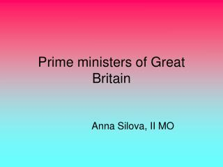 Prime ministers of Great Britain