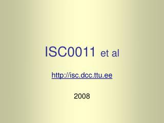 ISC0011  et al