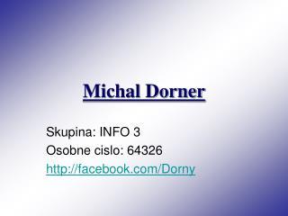 Michal Dorner