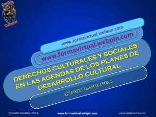 DERECHOS CULTURALES Y SOCIALES EN LAS AGENDAS DE LOS PLANES DE DESARROLLO CULTURAL