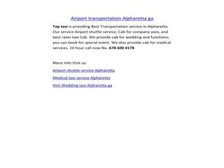 Airport transportation Alpharetta ga