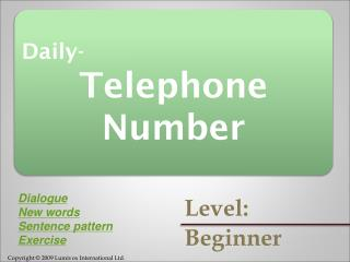Daily- Telephone Number