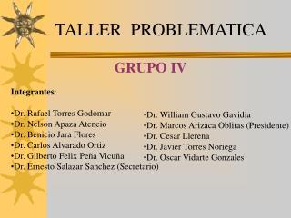 TALLER  PROBLEMATICA