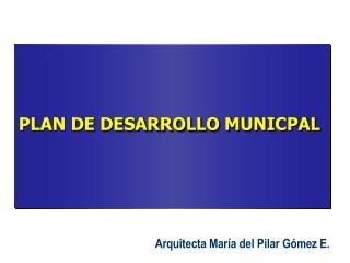 PLAN DE DESARROLLO MUNICPAL