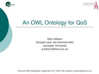 An OWL Ontology for QoS