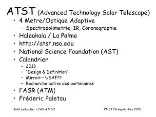 ATST (Advanced Technology Solar Telescope)