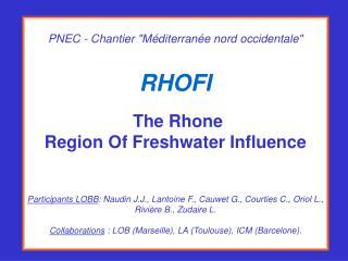 Impact des apports du Rhône sur les écosystèmes du golfe du Lion