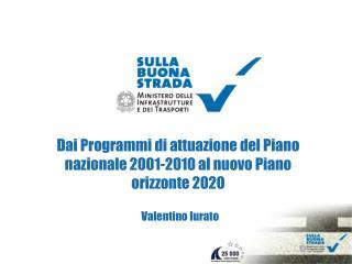 Dai Programmi di attuazione del Piano nazionale 2001-2010 al nuovo Piano orizzonte 2020