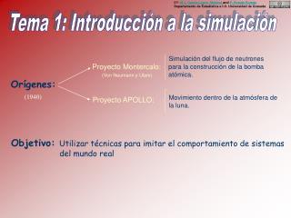 Tema 1: Introducción a la simulación
