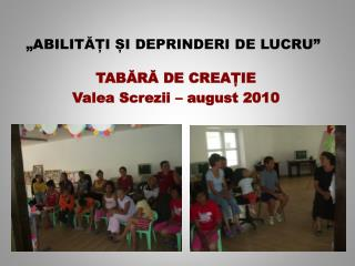 """""""ABILITĂȚI ȘI DEPRINDERI DE LUCRU"""""""